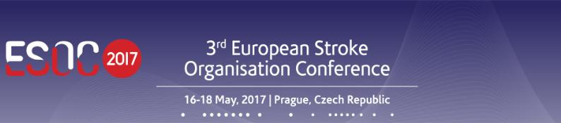3rd European Stroke Organisation Conference: Prague, Czech Republic, 16-18 May 2017