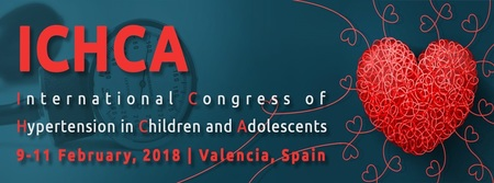 1st International Congress of Hypertension in Children and Adolescents: Valencia, Spain, 9-11 February 2018