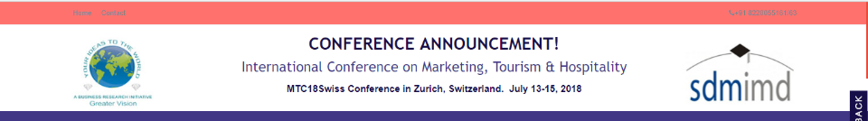 MTC18Swiss International Conference on Marketing, Tourism & Hospitality: Zürich, Switzerland, 13-15 July 2018