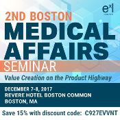 2nd Boston Medical Affairs Seminar: Boston, Massachusetts, USA, 7-8 December 2017
