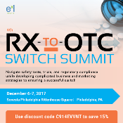 4th Rx-to-OTC Switch Summit: Philadelphia, Pennsylvania, USA, 6-7 December 2017