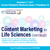 6th Content Marketing for Life Sciences: Philadelphia, Pennsylvania, USA, 6-7 December 2017